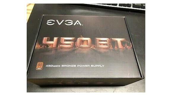 آنباکس پاور EVGA 450 Watt BT Bronze
